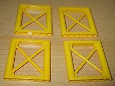 Lego 4x Zaun - Wand - Kran - Elemte 4x4 in Gelb