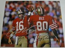 JOE MONTANA & JERRY RICE SAN FRANCISCO 49ERS Signed Photo Autograph NFL GIFT