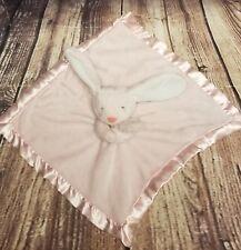 Carters Lovey Security Blanket Plush Bunny Rabbit Pink White Satin Girl