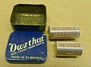 OWZTHAT - VINTAGE CRICKET GAME IN ORIGINAL TIN - RELISTED DUE TO TIME WASTER.