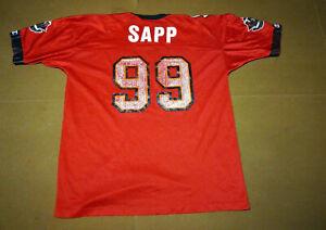 VINTAGE 90's CHAMPION NFL TAMPA BAY BUCCANEERS WARREN SAPP JERSEY SIZE 48