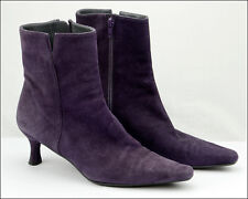 Authentic STUART WEITZMAN Genuine Leather Purple Ladies Heel Boots, Sz 7.5(US)