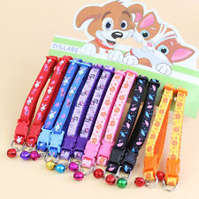 12pcs/lot Dog Puppy Cat Collar Pet collars W/bell Nylon Necklace Gift Wholesale