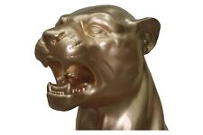 Berglöwe Panther Figur Raub Katze Puma Löwe Jaguar Tierfigur Dekofigur Gold