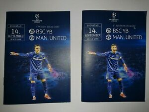 2021/22  Young Boys Berne  v  Manchester United   x 2  -  14/9    Programme