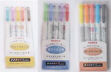 15PCS Zebra Mildliner Highlighter Pens Marker Set Color Office School SD