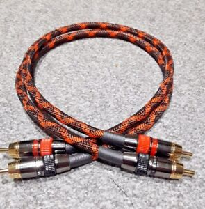 Van Damme - Monster Silver Plated OFC RCA Phono Braided Interconnect Cable Pair