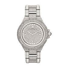 Nuevo Michael Kors MK5869 Camille Tono Plata Pave Cristal Glitz Dial Mujer Reloj