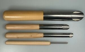 4 ROUND HOLE CUTTERS POTTERY CLAY CERAMIC TOOLS 21, 12, 9 and 3mm DIAMETER HOLES