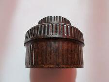 ANTIQUE VINTAGE ROUND INK REAL BROUN BAKELITE CASE BOX EMPTY