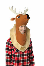 FUNNY HUNTER TROPHY HEAD DEER HEADPIECE COSTUME Comical Animal Halloween