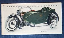 BSA Combination  Motorcycle Sidecar Outfit   Original 1923 Vintage Colour Card