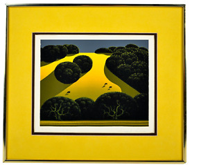 Eyvind Earle Serigraph signed and numbered Alamo Pintado