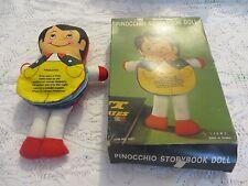 J.S.N.Y.  Cloth Pinocchio Flip Style Cloth Storybook Doll VINTAGE Boxed