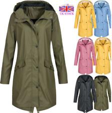 Womens  Rain Mac Raincoat Ladies Wind Outdoor  Waterproof  Jacket Coat Plus Size
