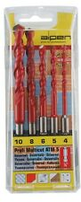 Multifunzionali-Kit trapano 4 - 10mm con bitschaft, per pietra, metallo, piastrelle, legno particolare