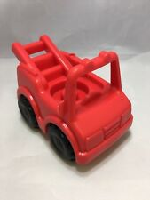 Vintage Fisher Price Little People RED Fire Truck for Chunky Style Figures