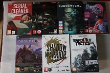 Darkest Dungeon, Observer, Beat Cop, Obduction, Shadow Warrior & Tactics - BOXES