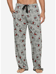 NWT Disney Winnie the Pooh Bear Pajama Pants Sleep Men's Women XL Cotton Blend