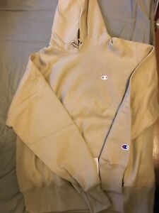 Champion x Urban Outfitters UO Reverse Weave Taupe Hoodie Pullover Men's M