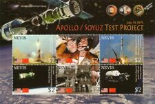 1975 APOLLO-SOYUZ Test Project Space Stamp Sheet (2006 Nevis)