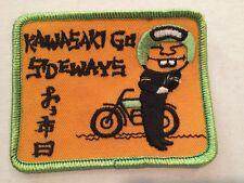 Vintage Patch NOS Kawasaki Go Sideways  Motorcycles Biker 70s Rat Hot Rod Funny