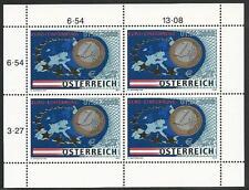 Österreich aus 2002 ** postfrisch MiNr.2368 Kleinbogen - Einführung der €-Münzen