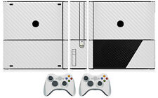 White Carbon Fiber Vinyl Skin Sticker for Xbox360 Slim E and 2 controller skins