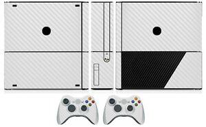 White Carbon Fiber Vinyl Skin Sticker for Xbox360 Slim E and 2 controller skins