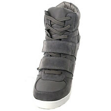 Epicsnob Women Shoes High Top Wedge Heel Trainers Suede Fashion Sneakers