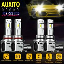 9005 9006 LED Combo CREE 48000LM Headlight High + Low Beam 6500K Kit Bulb ZES M3