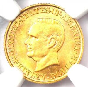 1916 McKinley Commemorative Gold Dollar Coin G$1 - Certified NGC MS61 (UNC BU)