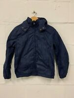 Junior Boys Tommy Hilfiger Navy Jacket Hooded - Size 152 (12 Years Approx)
