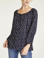 Women's Sizes 10,14,16,18,20 Pretty Floral Print Flare Sleeve Crinkle Top (b17)
