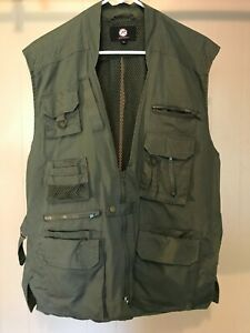 Mens ROTHCO Combat Vest Outback Fishing Pockets Zip Up Utility Size M