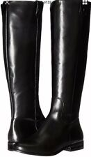 Jack Rogers Parker Riding Boots Knee High Tall Flat Leather Black 5.5 $298