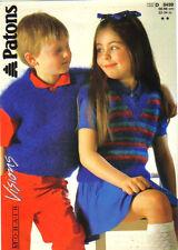 """Knitting Pattern -  Original Patons 8499 - Child's Mohair Slipover  22 - 34"""""""