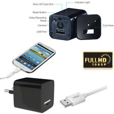 1080P USB Mini SPY Motion Hidden Wall Charger Camera DVR US EU Plug FULL HD Cam