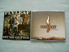 FLYLEAF job lot of 2 promo CD singles Set Me On Fire I'm So Sick