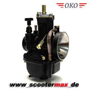 Tuning OKO 21 mm PWK Vergaser Black Edition Flachschiebervergaser + Powerjet