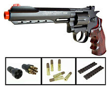 "12gram CO2 Gas Airsoft hand-Guns WG-702 WinGun 6""inch Metal 357-Magnum Revolvers"