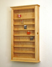 Maple Shot Glass Shooter Display Case Cabinet Rack Shelves *Made in the USA*