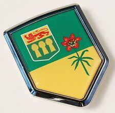 Saskatchewan Canada Flag Chrome Emblem Car Decal