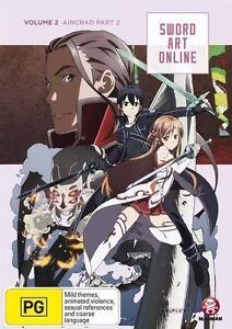Sword Art Online - Aincrad : Vol 2 : Part 1 : Eps 8-14 (DVD, 2014)