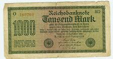 Banknote Deutsches Reich 1000 Mark 1922 Ro.75i
