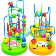 Educational Baby Kids Wooden Around Beads  Intellectual Developmental Toys Gift