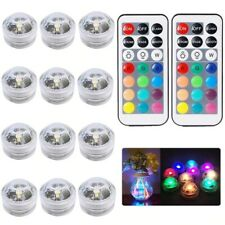MULTICOLOR (10) LED SUBMERSIBLE PARTY LIGHT BASE WITH REMOTE CONTROL -BULK PRICE