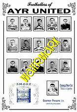 AYR UNITED - 1920's PINNACE CARDS TEAM POSTER