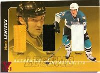 2000-01 BAP Signature Series Mario Lemieux Legend Triple Jersey Vault Pink 1/1