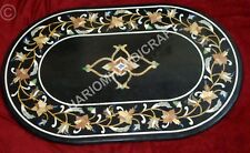 3'x2' Marble Dining Table Top Floral Marquetry Inlay Handmade Furnitures E836B